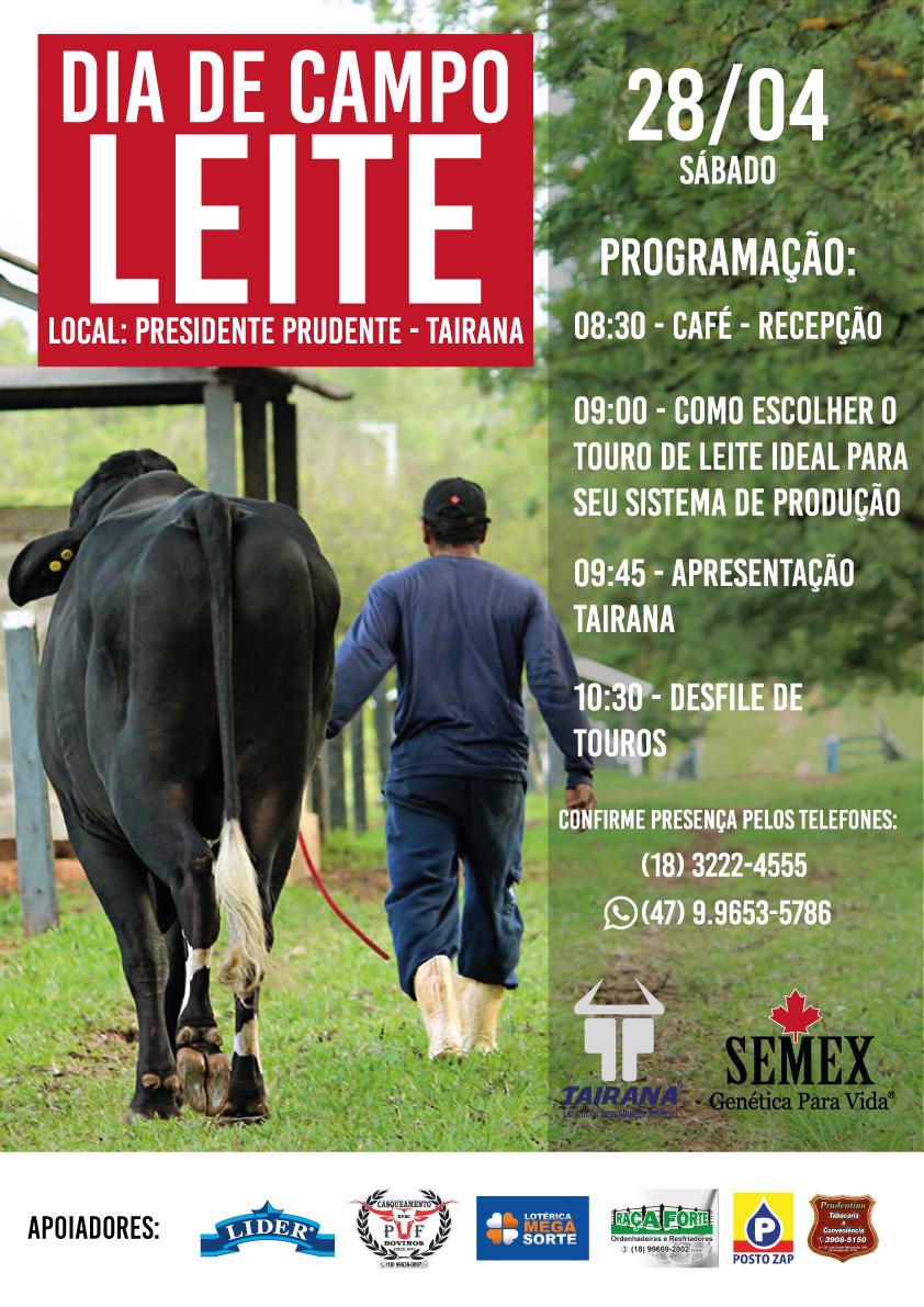 Dia de Campo mostrará tecnologias na área de genética leiteira
